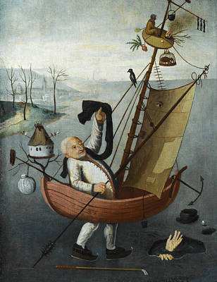 The Fool's Ship Poster by Follower of Hieronymus Bosch