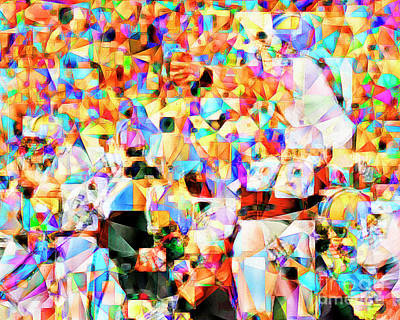 The Football Longest Yard In Abstract Cubism 20170328 Poster by Wingsdomain Art and Photography