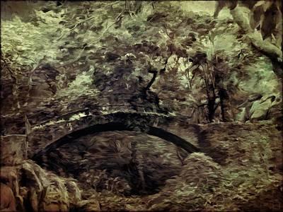The Forest Bridge - Monotone  Poster by Daniel Arrhakis