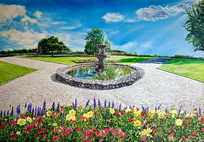Gushing Fountain Poster