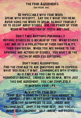 Four agreements posters fine art america the four agreements 11 poster platinumwayz