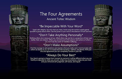The Four Agreements Poster Poster