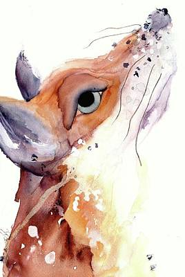 Poster featuring the painting The Fox by Dawn Derman