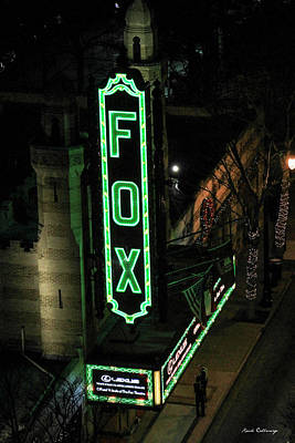 The Fox Theater Too Historic Atlanta Theater Art Poster by Reid Callaway
