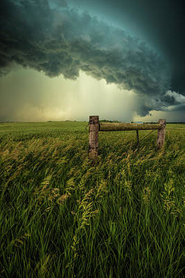 Poster featuring the photograph The Frayed Ends Of Sanity  by Aaron J Groen