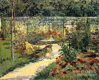 The Garden Of Manet Poster by Edouard Manet