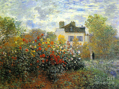 The Garden Of Monet At Argenteuil Poster by Monet