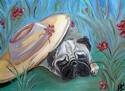The Garden Pug Poster