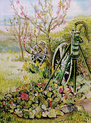 The Garden Pump Poster by Joan Thewsey