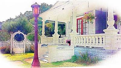 The Gate Porch And The Lamp Post Poster by Becky Lupe
