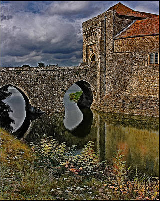 The Gatehouse And Moat At Leeds Castle Poster by Chris Lord