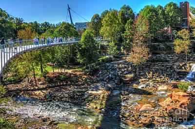 The Gathering Liberty Bridge Greenville South Carolina Art Poster