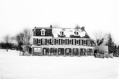 The General Lafayette Inn - Barren Hill Brewery In Black And Whi Poster by Bill Cannon