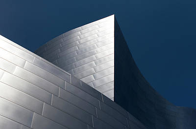 Poster featuring the photograph The Geometry Of Disney Hall by Lorraine Devon Wilke