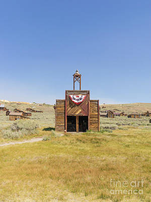 The Ghost Town Of Bodie California Fire House Dsc4432 Poster by Wingsdomain Art and Photography