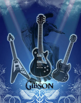 The Gibson Trilogy Poster by Michael Damiani