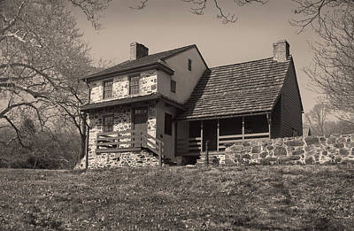 The Gilpin House Monochrome Poster