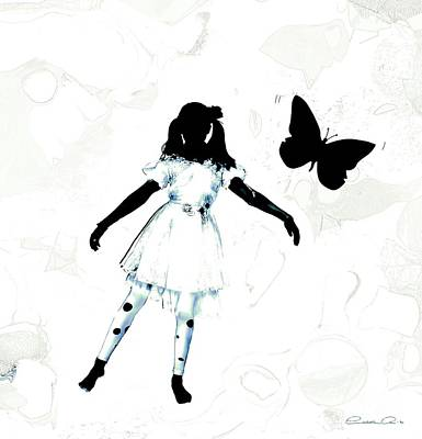 The Girl And The Black Butterflie Poster