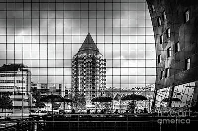 Poster featuring the photograph The Glass Windows Of The Market Hall In Rotterdam by RicardMN Photography