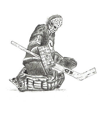The Goaltender Poster by Shaun Groenesteyn