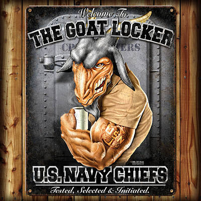 The Goat Locker Poster by Patriot 1