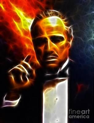 The Godfather Poster by Pamela Johnson