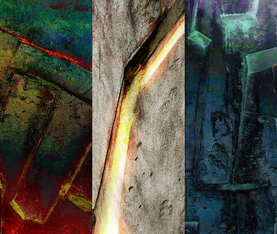 Poster featuring the digital art The Gods Triptych 2 by Ken Walker