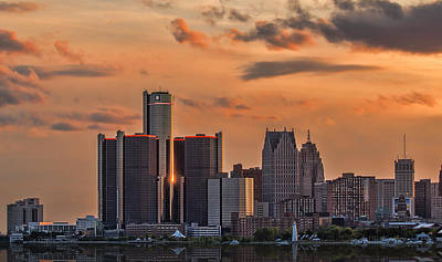 The Golden Age Of Detroit Poster by Pat Eisenberger