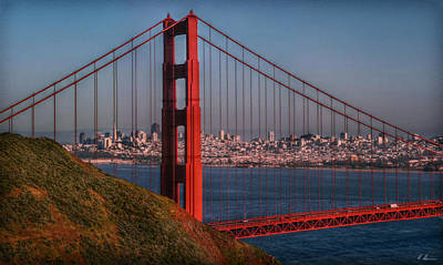 The Golden Gate Poster by Hanny Heim