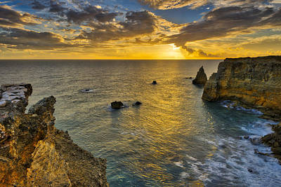 Poster featuring the photograph The Golden Hour - Cabo Rojo - Puerto Rico by Photography By Sai
