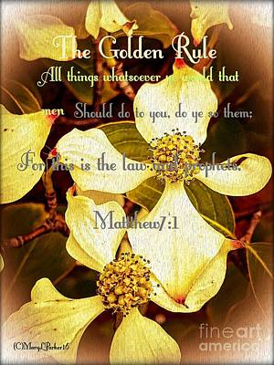 The Golden Rule Poster by MaryLee Parker