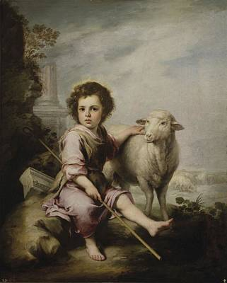 The Good Shepherd, 1660 By Bartolome Esteban Murillo Poster
