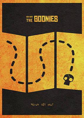 The Goonies Alternative Minimalist Movie Poster Poster by Ayse Deniz