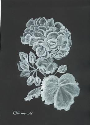Poster featuring the painting The Gossamer Geranium by Carol Wisniewski