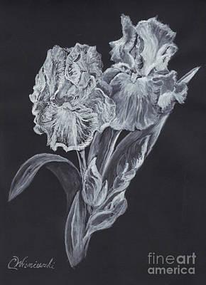 Poster featuring the painting The Gossamer Iris by Carol Wisniewski