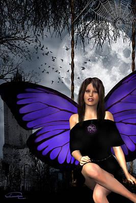 The Gothic Fae Lady Poster by Emma Alvarez