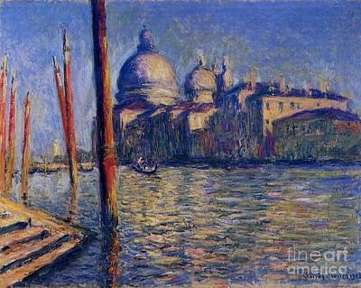 The Grand Canal And Santa Maria Poster by Monet