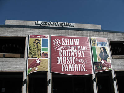 The Grand Ole Opry House Abstract Poster