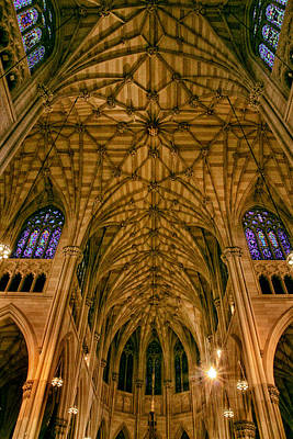 The Grandeur Of St. Patrick's Cathedral Poster by Jessica Jenney