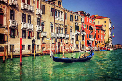 The Grandeur Of The Grand Canal Venice  Poster