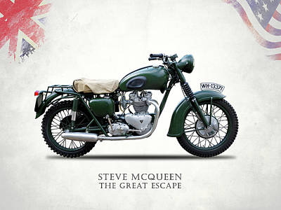The Great Escape Motorcycle Poster by Mark Rogan