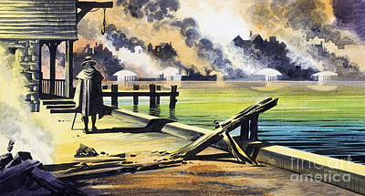 The Great Fire Of London Poster by Ron Embleton