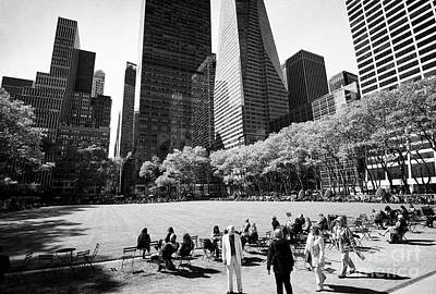 the great lawn in bryant park New York City USA Poster