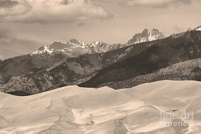 The Great Sand Dunes Sepia Print 45 Poster