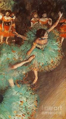 The Green Dancer Poster by Degas