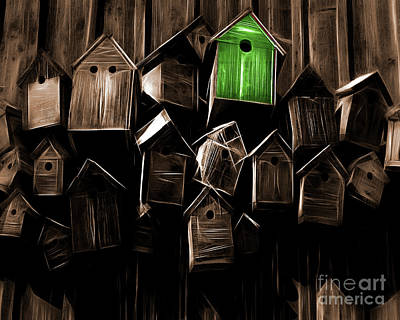 The Green Home Poster by Edmund Nagele
