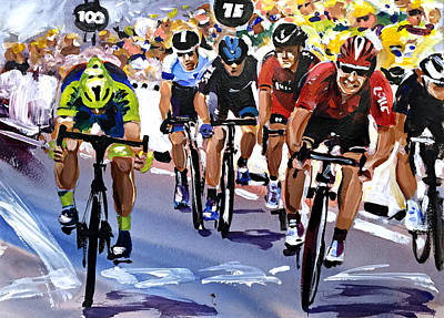 The Greipel Grimace Poster by Shirley Peters