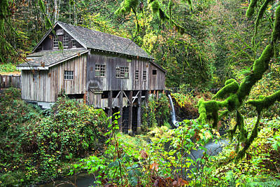 The Grist Mill, Amboy Washington Poster