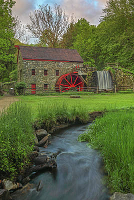 Poster featuring the photograph The Grist Mill In Sudbury by Juergen Roth