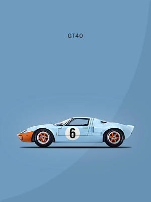 The Gt40 Poster by Mark Rogan